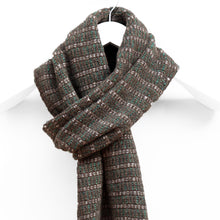 Load image into Gallery viewer, Lightweight Pin Striped Scarf, Peat & Green