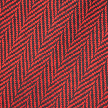 Load image into Gallery viewer, Red & Black Herringbone Donegal Tweed Fabric Sample