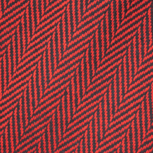Red & Black Herringbone Donegal Tweed Fabric Sample