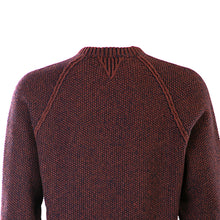 Load image into Gallery viewer, Red & Navy Seed Stitch Crew Neck Sweater