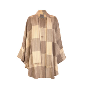 Long Tweed Cape - Beige Square