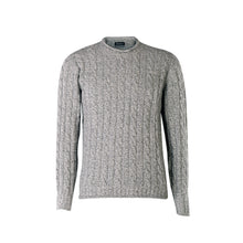 Load image into Gallery viewer, Ribbed Cable Crew Sweater, Pebble