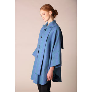 Roisin Cape, Blue & Green Stripe