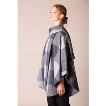 Load image into Gallery viewer, Roisin Cape, Denim & Grey Check