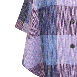 Roisin Cape, Lilac & Navy Check