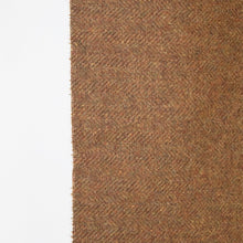 Load image into Gallery viewer, Rust Brown Herringbone Donegal Tweed Fabric