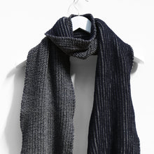 Load image into Gallery viewer, Ribbed Two Colour Scarf, Grey & Navy