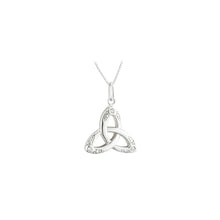 Load image into Gallery viewer, Sterling Silver Trinity Necklace with Crystal Stones