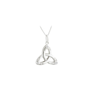 Sterling Silver Trinity Necklace with Crystal Stones