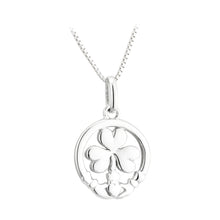 Load image into Gallery viewer, Sterling Silver Claddagh & Shamrock Necklace