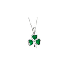 Load image into Gallery viewer, Sterling Silver Green Shamrock Necklace