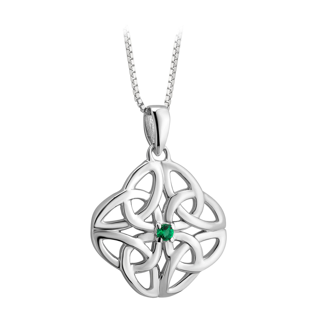 Sterling Silver Dara Knot Necklace