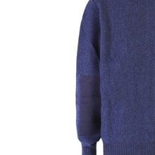 Load image into Gallery viewer, Seed Stitch Zip Sweater, Indigo