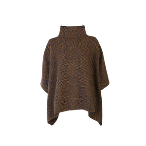 Shadow Block Mock Poncho, Navy/Olive
