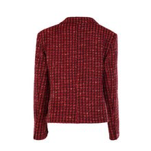 Load image into Gallery viewer, One Button Short Jacket - Red Bubble Tweed