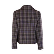Load image into Gallery viewer, Three Button Short Jacket - Blue & Grey Check