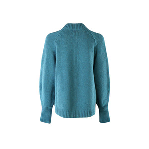 Short Edge to Edge Cardigan, Turquoise