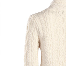 Load image into Gallery viewer, Short Three Button Crossover Cardigan, Natural