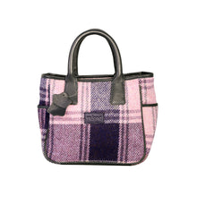 Load image into Gallery viewer, Sienna Handheld, Purple & Navy Check