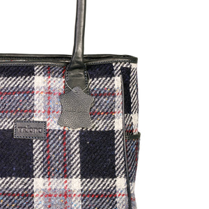 Sienna Tote, Navy & Rust Check