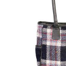 Load image into Gallery viewer, Sienna Tote, Navy & Rust Check