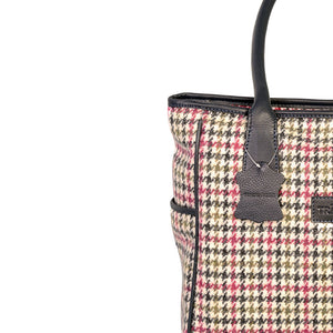 Sienna Tote, Pink & Green Houndstooth