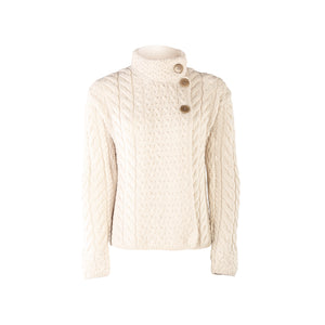 Supersoft Three Button Cardigan, Natural
