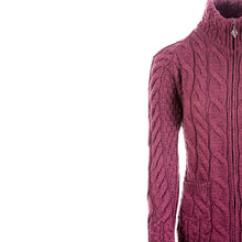 Load image into Gallery viewer, Supersoft Zip Cardigan, Wine