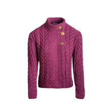Load image into Gallery viewer, Supersoft Crossover Button Cardigan, Wine