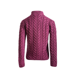 Supersoft Crossover Button Cardigan, Wine