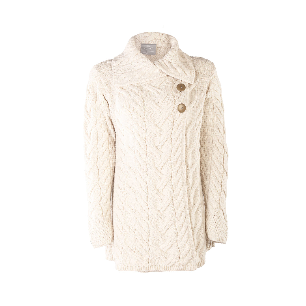 Supersoft Crossover Button Cardigan, Natural