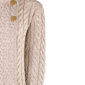 Supersoft Three Button Cardigan, Oatmeal