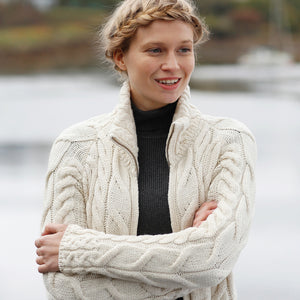 Supersoft Zip Cardigan, Natural