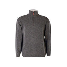Load image into Gallery viewer, Grey Lightweight Half Zip Sweater