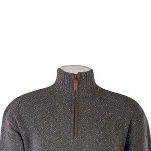 Grey Lightweight Half Zip Sweater