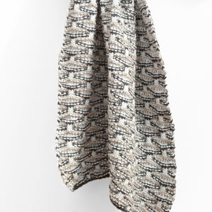 Shell Stitch Oversized Scarf, Grey Sky