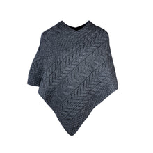 Load image into Gallery viewer, Aran Poncho, Charcoal