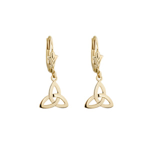 Trinity Knot Drop Earrings, Yellow Gold