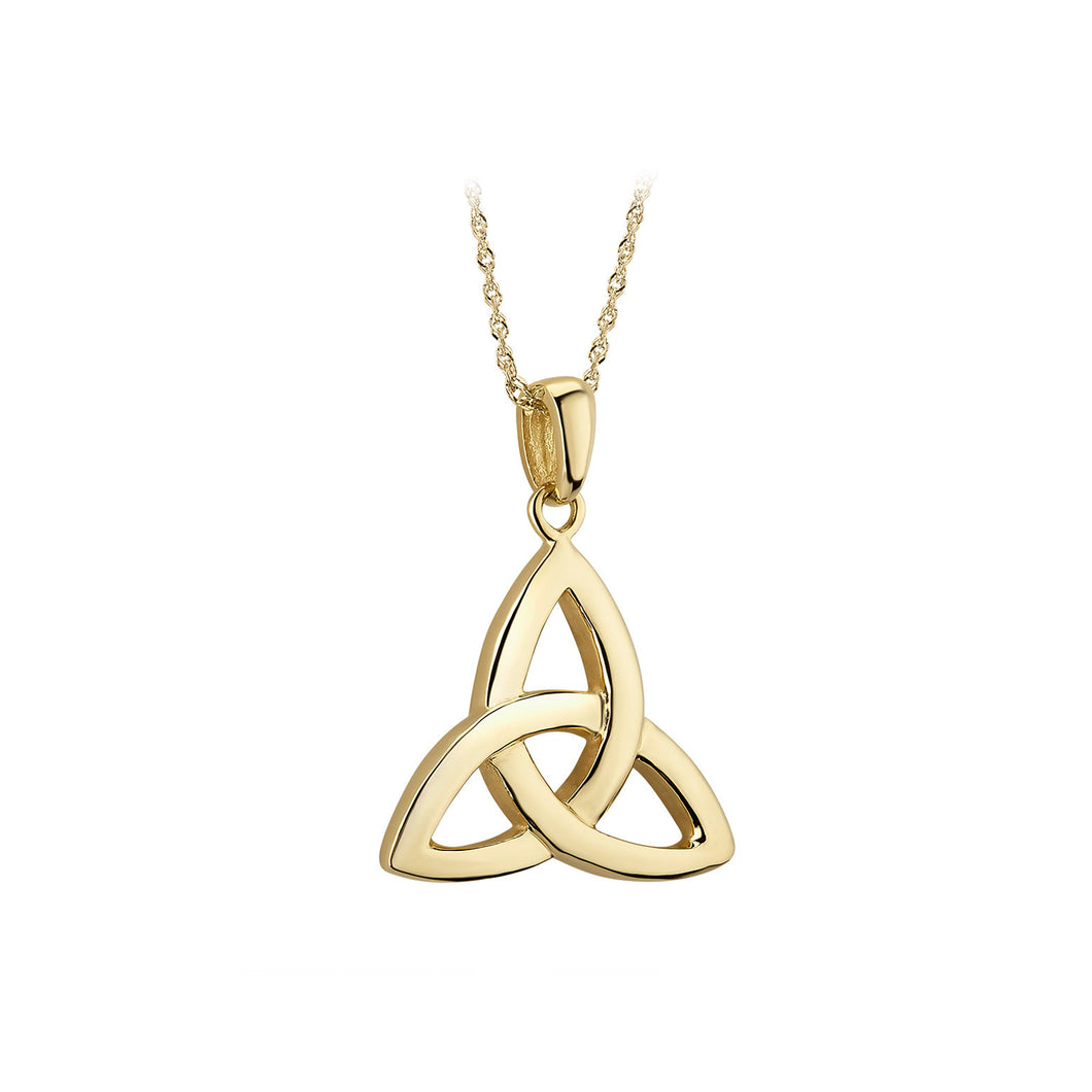 Trinity Knot Pendant, Yellow Gold