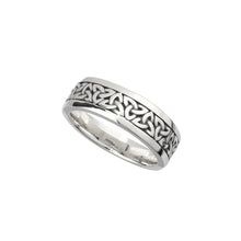 Load image into Gallery viewer, Wide Trinity Knot Band, Sterling Silver