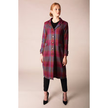 Load image into Gallery viewer, Aine Oversize Check Coat
