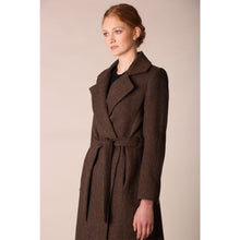 Load image into Gallery viewer, Belted Coat, Brown Check