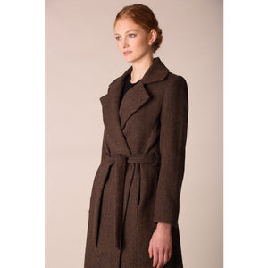 Belted Coat, Brown Check