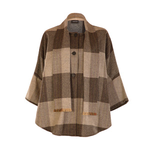Trisha Cape, Brown Check