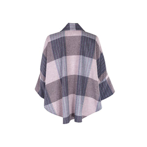 Trisha Cape, Lilac & Blue Check