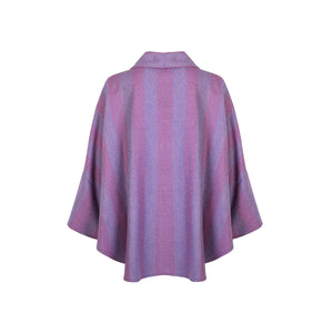 Trisha Cape, Plum Stripe