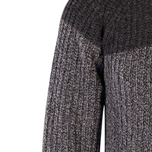 Load image into Gallery viewer, Two Tone Ribbed Crew Sweater, Slate