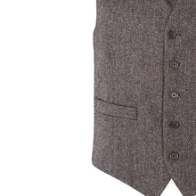 Load image into Gallery viewer, Waistcoat, Charcoal Herringbone