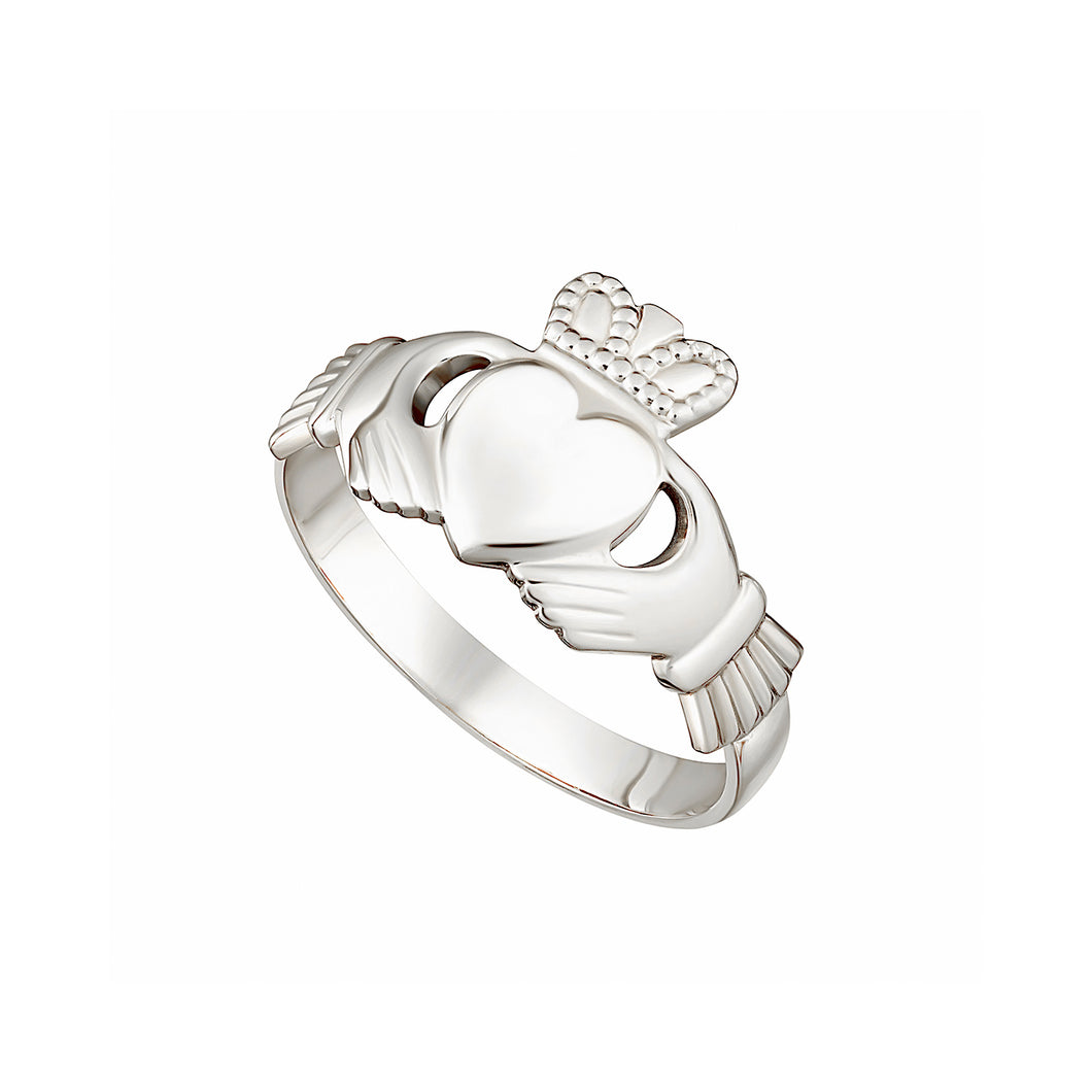 Claddagh Ring, White Gold
