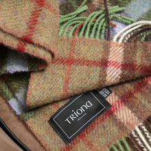 Load image into Gallery viewer, Large Wool Blanket, Brown, Beige & Red Plaid